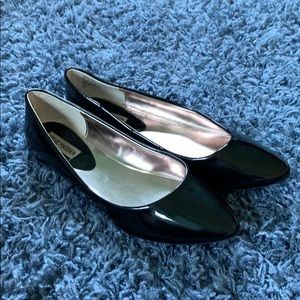 Steven Madden Ibiza Black Patent Leather Flats